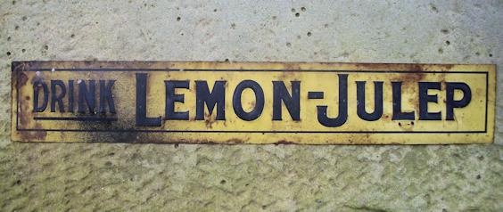 Antique Drink Lemon Julep Sign