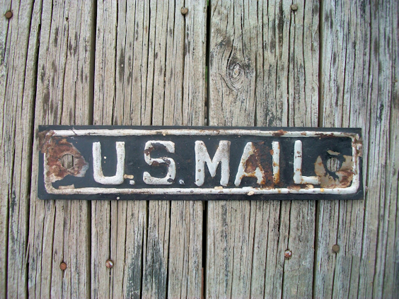Rustic US Mail Sign