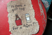 Is there a gift bag for a 40oz card by Laura Tolley