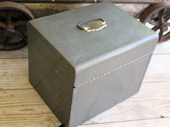 Vintage Metal File Box