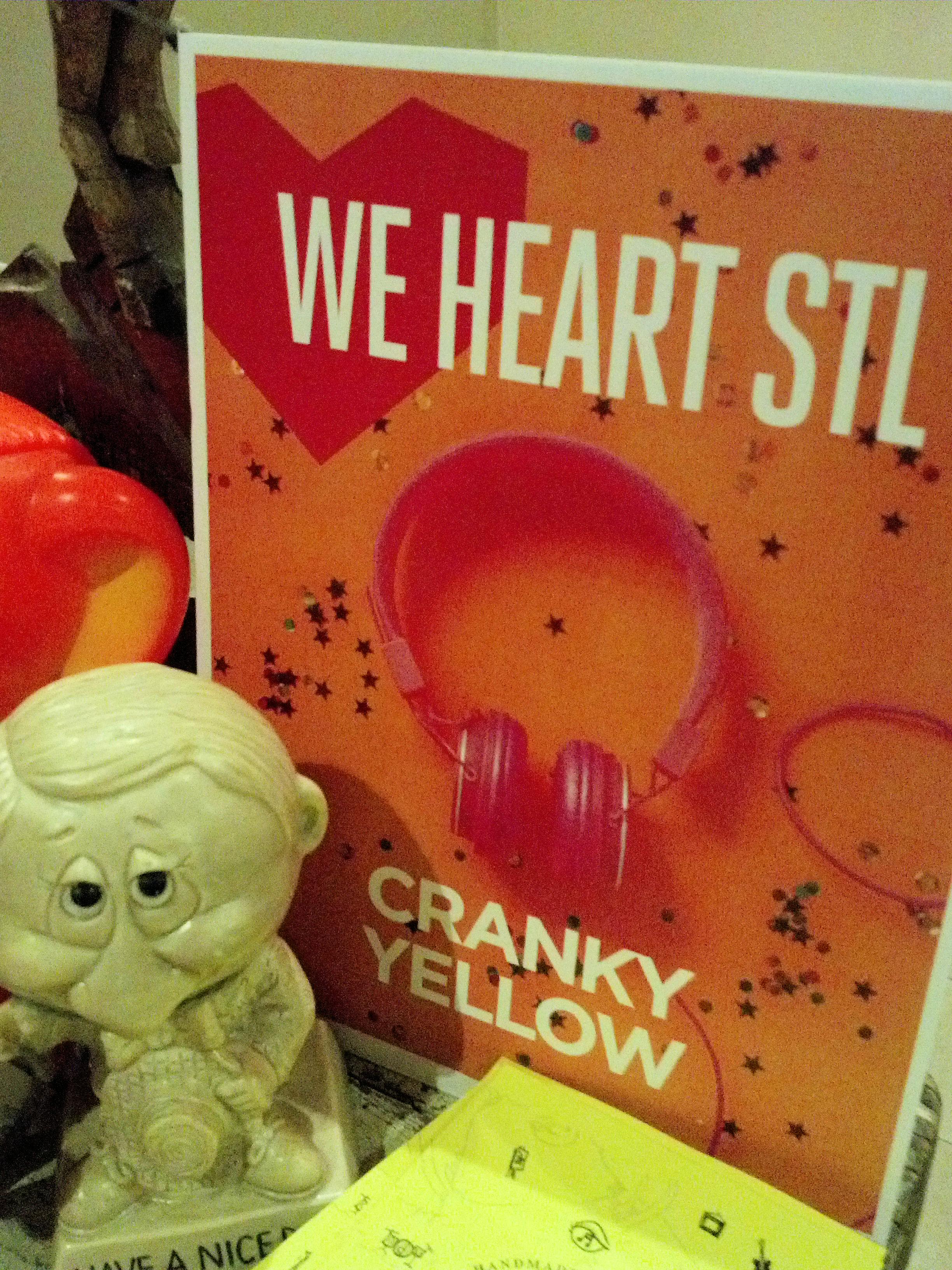 We Heart STL Cranky Yellow